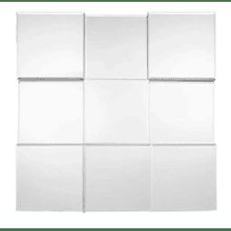 Quadro Espelho In-Out Prata com espelhinhos de 20x20cm - Alteração de valores por medidas