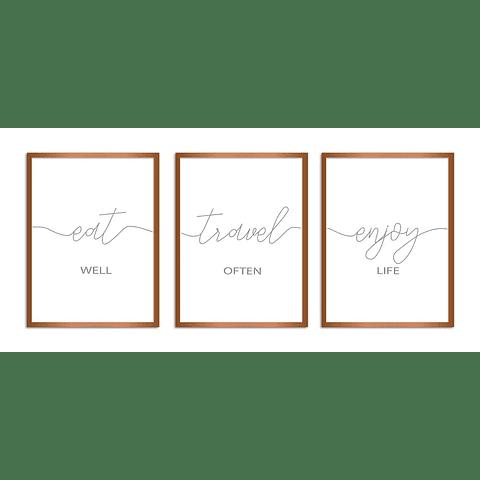 Conjunto de Quadros Separados Wishes - Alteração de valores por medidas