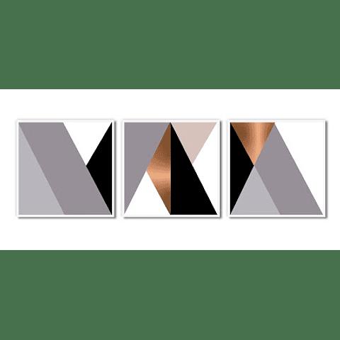 Conjunto de Quadros Separados Pirâmides - Alteração de valores por medidas