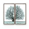 Quadro Árvore Blue - Alteração de  valores por medidas