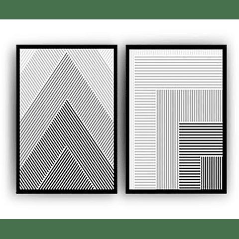 Conjunto de Quadros Separados Abstrato Formas - Alteração de valores por medidas