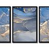 Trio  de Quadros Separados Granito Azul - Alteração de valores por medidas
