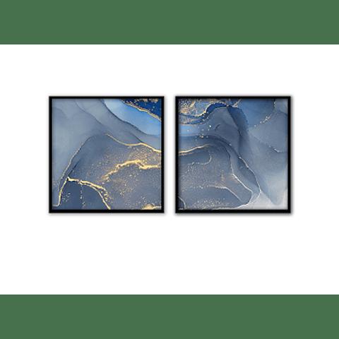 Conjunto de Quadros Granito Azul - Alteração de valores por medidas