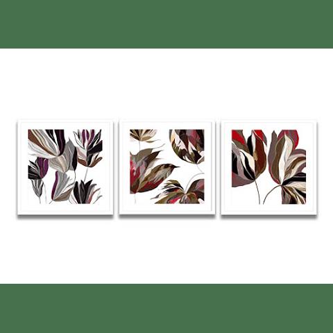 Conjunto de Quadros Flores Coloridas (Alteração de Valores por medidas)
