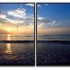 Conjunto de quadros Praia realista - Alteração de valores por medidas