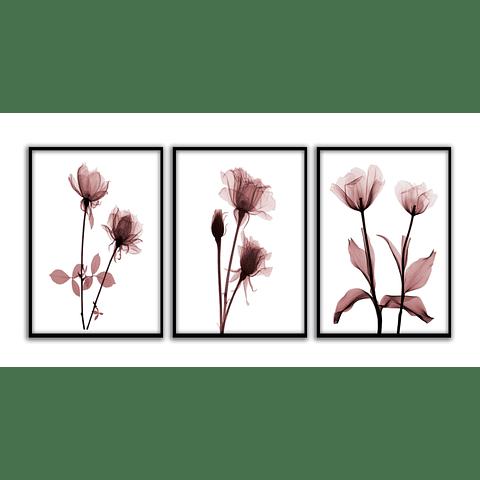 Conjunto de Quadros Separados Floraison - Alteração de valores por medidas