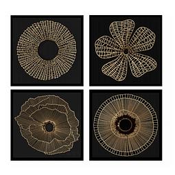 Conjunto de Quadros Separados Mandala Gold - Alteração de valores por medidas
