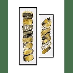 Conjunto de Quadros Separados Pure - Alteração de valores por medidas