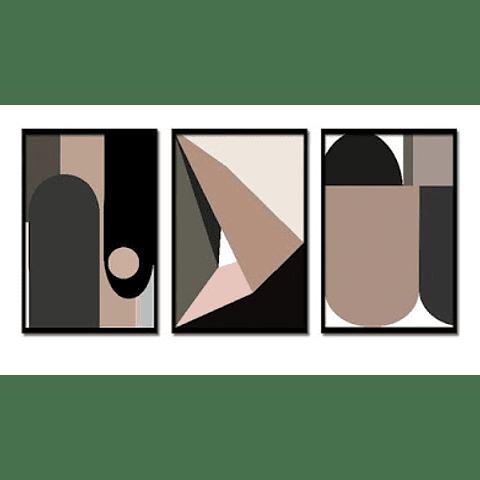 Trio de Quadros Separados Musas - Alteração de valores por medidas