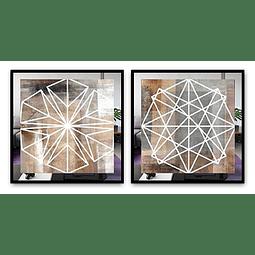 Conjunto de Quadros Stars com Paspatur de Espelho  - Alteração de valores por medidas