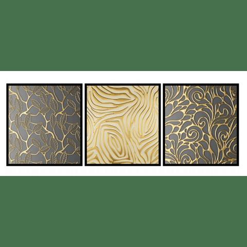 Conjunto de Quadro El Dourado - Alteração de valores por medidas