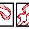 Quadro Conjunto Quadros Lenços Vermelhos - Alteração de valores por medidas