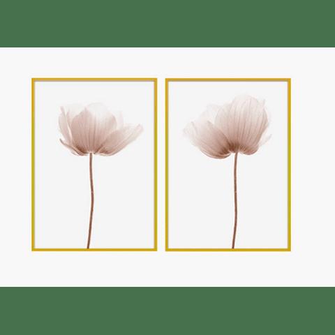 Conjunto de Quadros Blumen - Alteração de valores por medidas