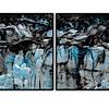 Conjunto de Quadros Separados Night Blue - Alteração de valores por medidas