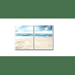 Conjunto de Quadros Areia da Praia - Par - Alteração de valores por medidas