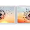 Conjunto de Quadros Separados Flor Emoção - Alteração de valores por medidas
