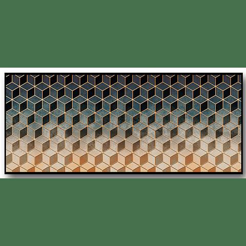 Quadro Abstrato Cubismo - Alteração de valores por medidas