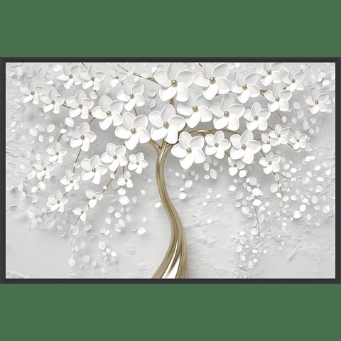 Quadro Fleurs Brodées (Alteração de valores por medidas)