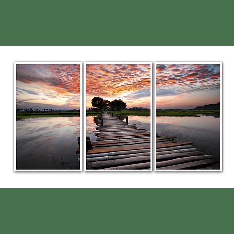 Conjunto de Quadros Separados Horizon- Alteração de valores conforme medidas