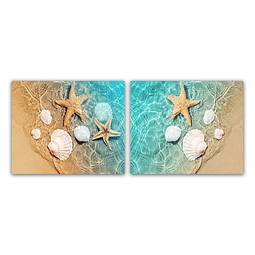 Conjunto de Quadros Metacrilato Seashell - Alteração de valores por medidas