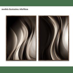 Conjunto de Quadros La Grotte - Alteração de valores por medidas