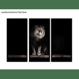 Trio de Quadros Separados León - Alteração de valores por medidas