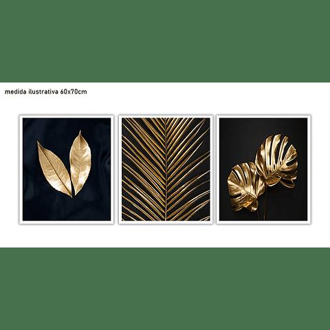 Trio de Quadros Separados Elegance - Alteração de valores por medidas