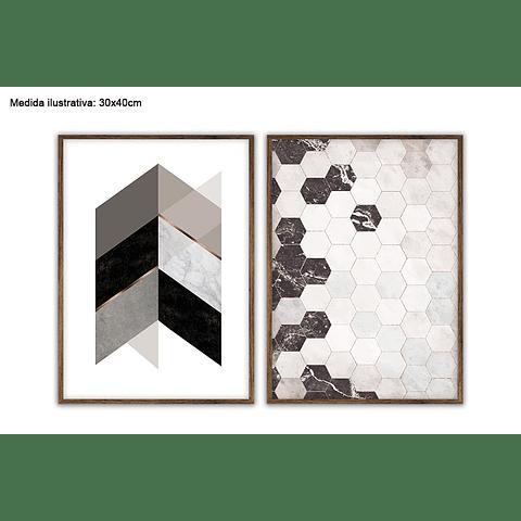 Conjunto de Quadros Separados Puzzles - Alteração de valores por medidas