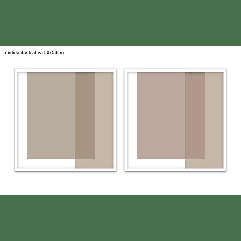 Conjunto de Quadros Separados Mezclado  - Alteração de valores por medidas
