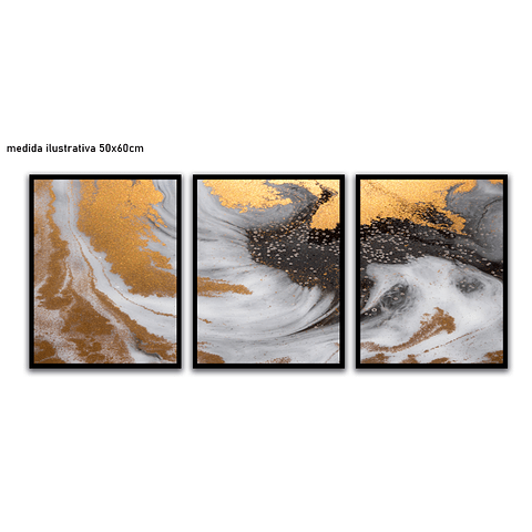 Trio de Quadros Separados  Constelación - Alteração de valores por medidas