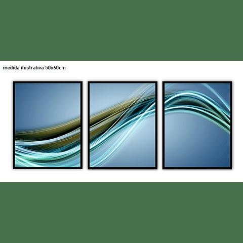 Trio de Quadros Separados  Senfoni - Alteração de valores por medidas