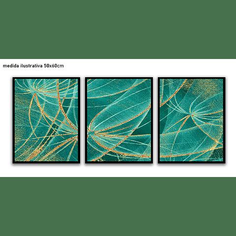 Trio de Quadros Separados  Tissue - Alteração de valores por medidas
