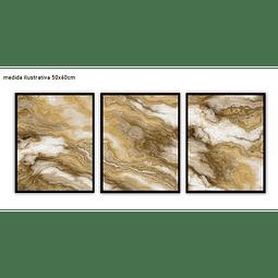 Trio de Quadros Separados  Granite - Alteração de valores por medidas