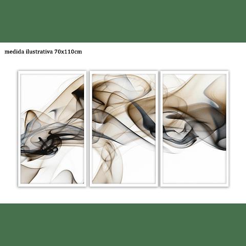 Trio de Quadros Separados  Dessin - Alteração de valores por medidas