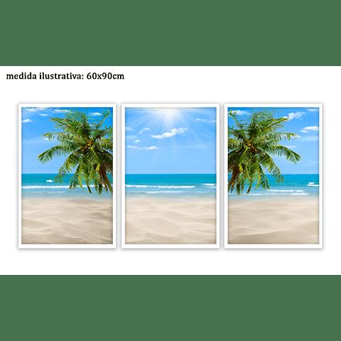 Trio de Quadros Separados  ''A Ilha'' - Alteração de valores por medidas