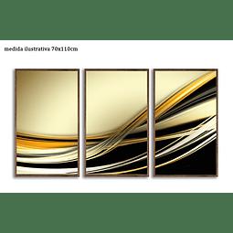 Trio de Quadros Separados  Contour - Alteração de valores por medidas