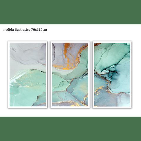 Trio de Quadros Separados La Glace - Alteração de valores por medidas