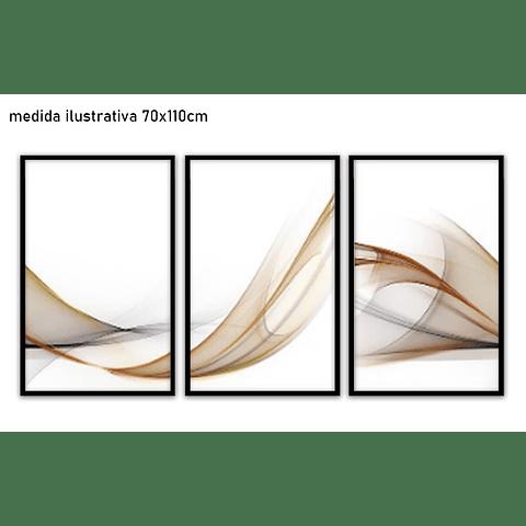 Trio de quadros Eternal -  Alteração de valores por medidas