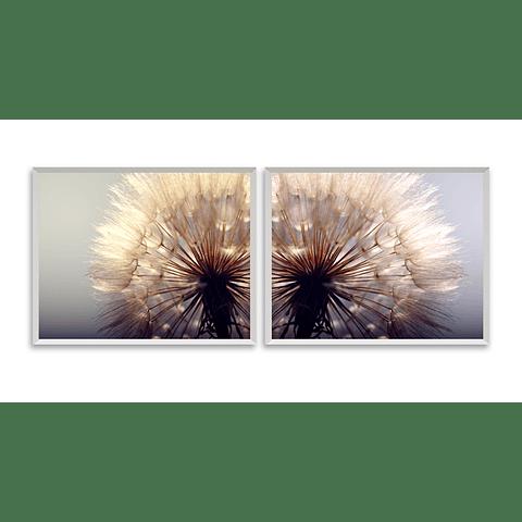 Conjunto de Quadros Separados Flor Sutil - Alteração de valores por medidas