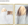 Conjunto de Quadros Separados Feathers - Alteração de valores por medidas