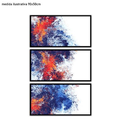 Trio de Quadros Separados Michelle - Alteração de valores por medidas