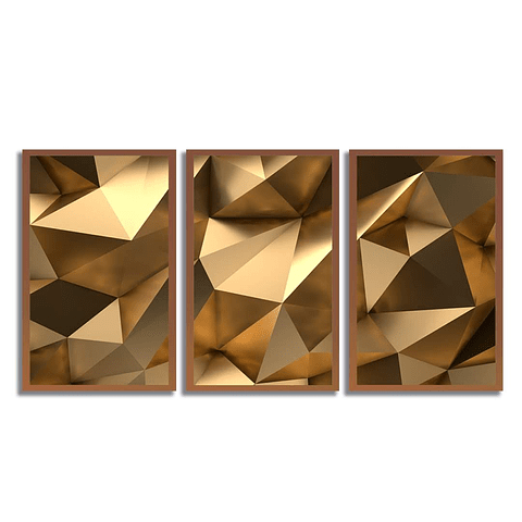 Conjunto de Quadros Gold Diamond - Alteração de valores por medidas