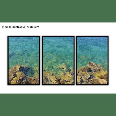 Trio de Quadros Separados Sunken - Alteração de valores por medidas