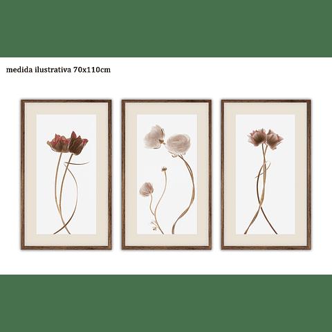 Trio de Quadros Separados Cuddle - Alteração de valores por medidas