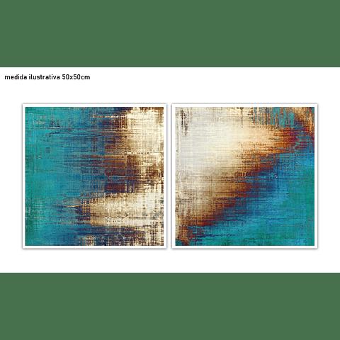 Conjunto de Quadros Separados Percezione - Alteração de valores por medidas