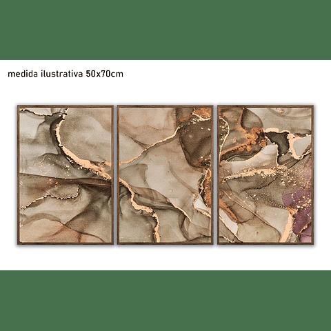Trio de Quadros Separados Margot - Alteração de valores por medidas