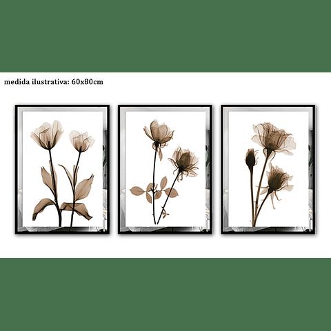 Trio de Quadros Fascino  - Alteração de valores por medidas