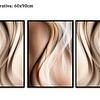 Trio de Quadros Separados Lines - Alteração de valores por medidas