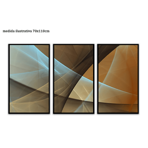 Trio de Quadros Separados Aisha - Alteração de valores por medidas