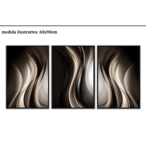 Trio de Quadros Separados Authentic - Alteração de valores por medidas